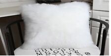 "1pcs Rectangle White Single-sided Faux Fur Pillowcase 12""x20"" & fabric back US"