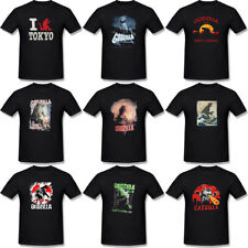 Godzilla T-shirt Classic Movie Graphic Men's T Shirt Black