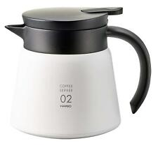 HARIO Japan Coffee V60 Insulated stainless steel server 550ml VHS-60 White