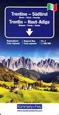 Italien 3 Trentino Südtirol 1:200000 Regionalkarte / Straßenkarte Kümmerly+Frey