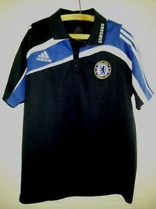Chelsea FC Football Jersey Polo Shirt 2009 Original Adidas Soccer Top Mens Size