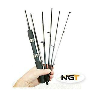 NGT TRAVELMASTER TRAVEL FISHING ROD 6FT  PIECE CARBON FIBRE RIVER SPINNING ROD