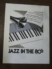JAZ IN THE 80'S PRINT SIGNED BY ARTIST AND NUMBERED.on high quality paper