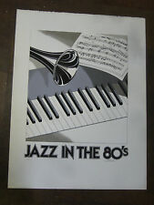 JAZ IN THE 80'S PRINT SIGNED BY ARTIST AND NUMBERED