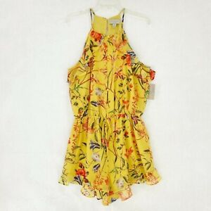 Belle + Sky Petite Havana Dream Multi Yellow Floral Romper Size PS Small NWT