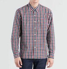Levi/'s Premium Indigoblau Kariert Western Baumwolle Langärmelig Hemd M L XL XXL