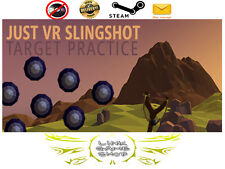 Just VR Slingshot Target Practice PC Digital STEAM KEY - Region Free - For VR