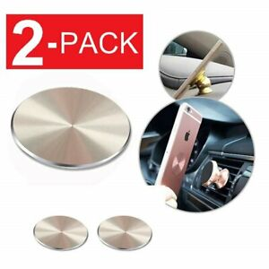 2-Pack Metal Plate Adhesive Sticker Replace For Magnetic Car Mount Phone Holder