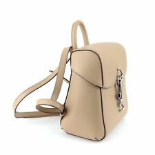 DKNY Ink Small Tan Leather Backpack Latte R84KK960 8x8x4.5