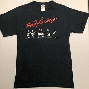 The Hives logo size S Small Black FOTL T Shirt Vtg Swedish Garage Rock Band Tee