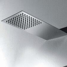 Soffione doccia a muro ULTRASLIM 430x200 mm acciaio inox