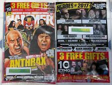 METAL HAMMER + Free CD Feb 2017 + FREE Giant POSTERS + Iron Maiden Book ANTHRAX