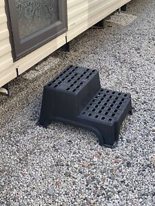 GIANT DOUBLE STEP FOR STATIC CARAVAN MILENCO STEPS / TOURING CAMPER STEP XL 3773
