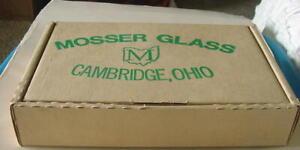"MOSSER GLASS ""THE JENNIFER MINIATURES"" KRYSTAL SET (CHILDS) IN ORIGINAL BOX"