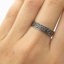 Band Ring Size 8 Vintage Mexico 925 Sterling Silver