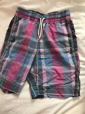 GAP KIDS Boys Plaid Swim Shorts Trunks Plaid Shorts Size  S 6-7