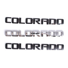 3x For Chevrolet COLORADO Fender Emblem Rear Tailgate Trunk Lid Badge Nameplates