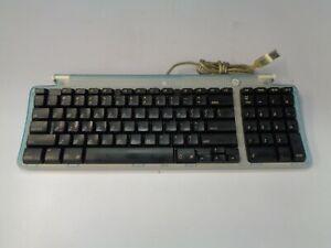 APPLE RETRO USB KEYBOARD  BONDI BLUE TESTED WORKING CLEAN VGC