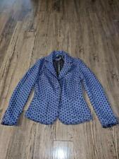 Boden Women Size 10 Purple Polka Dot Two Button Blazer Polyester Blend