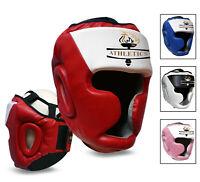 Head Guard Helmet Kick Boxing MMA Martial Art Gear Muay Thai Training Sparring
