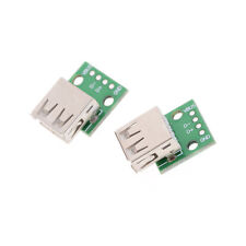 2pcs Hot Female Type A USB For 2.54MM PCB Board DIP Adapter Fad,v