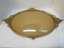 Original Vintage Oval Metal Convex PICTURE FRAME with All Filigree Intact.