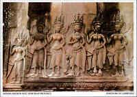 Kambodscha Cambodge Kingdom of Cambodia Angkor Wat Apsara Relief color Postkarte