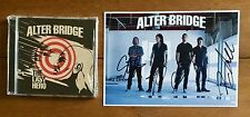 Alter Bridge - The Last Hero  Cd & Photo Signed Autographed