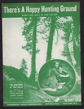 There's A Happy Hunting Ground 1941 John Wayne Shepherd of the Hills Sheet Music