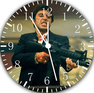 """Scarface Scar Face wall Clock 10"""" will be nice Gift and Room wall Decor E26"""