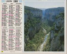 CALENDRIER ALMANACH DES PTT 1988 ARBOUSSOLS ET MONTS DE CERDAGNE PYRENEES