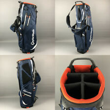 TaylorMade FlexTech Waterproof Golf Stand Bag Navy/White/Red (Faulty Strap)