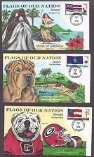 "**US FDC SC# 4283-4288 Washington, DC 6/14/2008 ""Flags of the US & Dogs"" Collins"