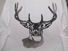 Deer head wall art decor steel elegant DHLG