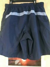 "Nike men's size L x 10"" swim trunk multi-blue lined drawstring polyester 2-front"