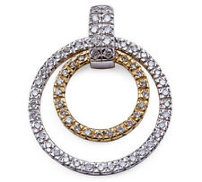 Pendant Diamond Circular White & Yellow 14K Gold