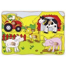 Goki 57995 - Steckpuzzle Bauernhof VI