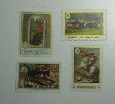 4 Art Stamps Republique Rwandaise Republic Of Rwanda Napoleon Van Eyck 1969
