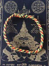 Bracelet Thai sacré Sai Sin béni en coton tissé Chance Bouddhisme Thaïlande