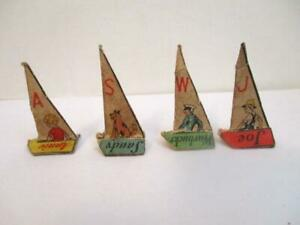 4 Vtg Character Pieces For Little Orphan Annie Treasure Hunt Game-Radio Premium