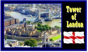 La Tour de Londres - Souvenir Nouveauté Réfrigérateur Aimant / Neuf / Sites /