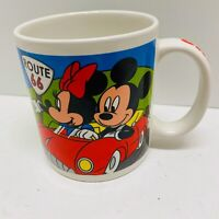 Disney Mickey Mouse and Friends Route 66 Hollywood California Coffee Mug 12 Oz