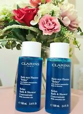 Clarins RELAX Bath & Shower Concentrate  100ml x 2 travel size 💙 BRAND NEW