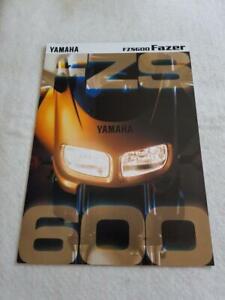 YAMAHA FZS600 F Motorcycle Sales Brochure 1998 #3MC-0107029-98E