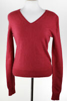 Apt. 9 Womens Red 100% Cashmere V-Neck Sweater Size Probably Medium EUC 621