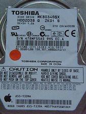 80 gb toshiba mk8034gsx-hdd2d38 q zk01 S-c0/ah303b/fkn6ga-disco rigido