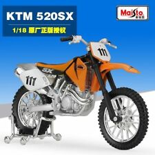 1:18 Maisto KTM 520 SX Motorcycle Motocross Bike Model New In Box