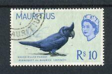 Mauritius QEII 1965 10r pale bluish green SG331 fine used