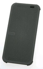 Genuine HTC One M8 Grey Dot View Case Flip Cover HC M100