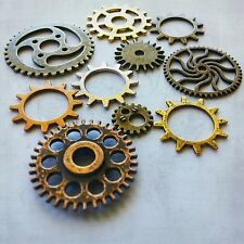 Assorted Gears Steampunk Cogs Pendants Clock Metal Gear Mix 12mm-31mm 10pc Bulk